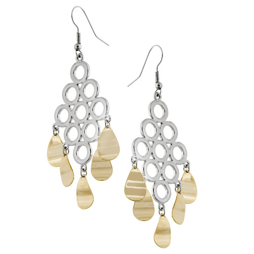 Connected Ovals Chandelier Earring