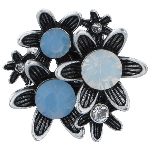 Shades of Blue Flower Ring