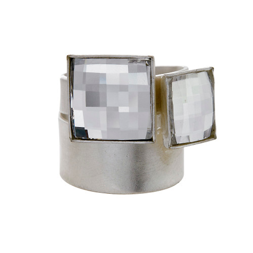 Faceted Squares Ring