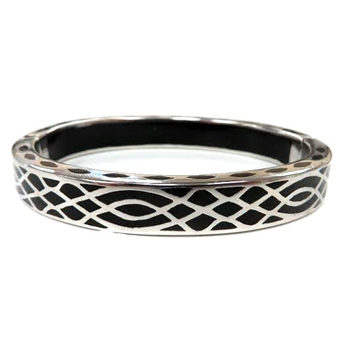AHC's Black and Silver Infinity Bangle
