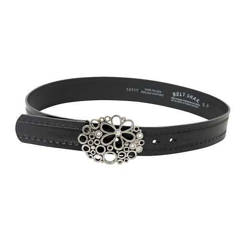 Open Flower Work Buckle Belt