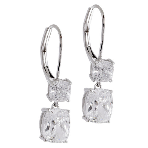 Double Solitaire Dangle Earring