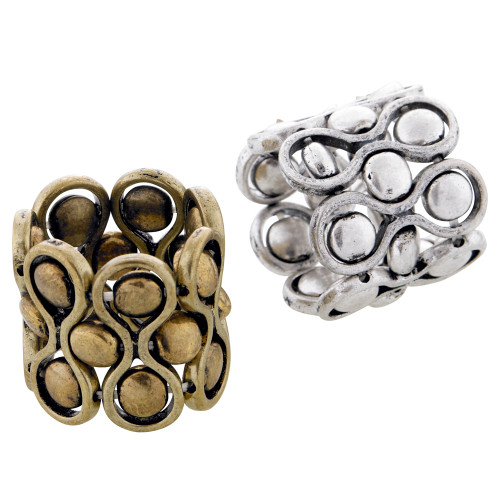 Antiqued Silver/Brass Roll on Ring