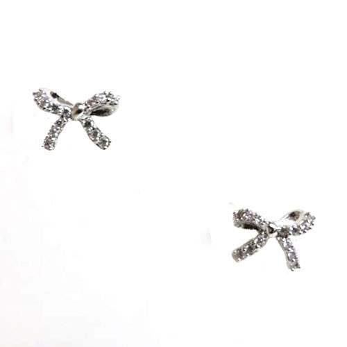 Itty-Bitty Crystal Bow Earring