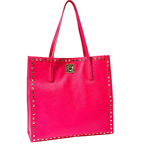 Betsey Johnson's Hot Pink Studded Tote