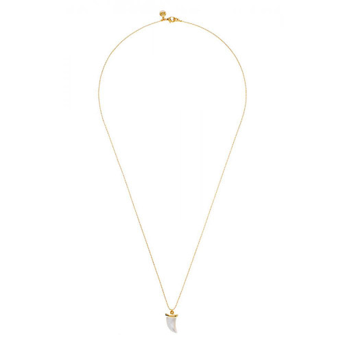 """St. Barth's Mother-of """"'œPearl Horn Long Necklace"""