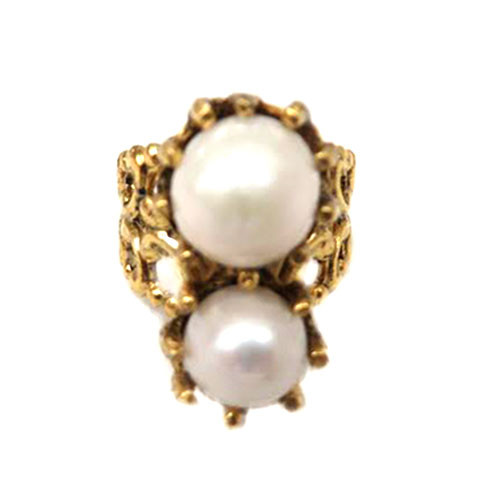 Heirloom Pearl Cigar Band Ring 1