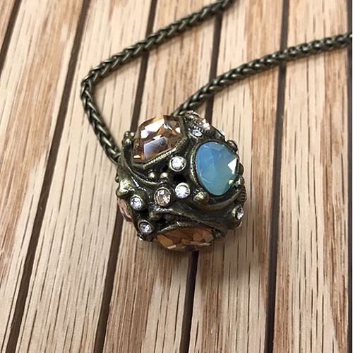 Larado's Jeweled Crystal Ball Necklace 1