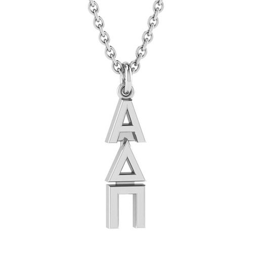 Alpha Delta Pi Silver Original Lavalier Necklace