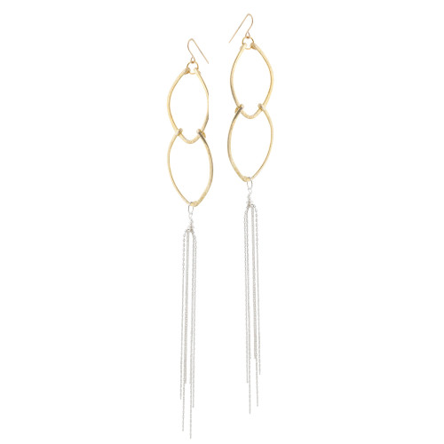 Zia's Two-Tone Shoulder Duster Earrings