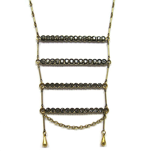 Black Diamond Vintage Ladder Necklace