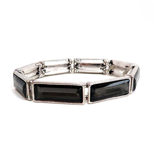 Black Diamond Rectangle Bracelet