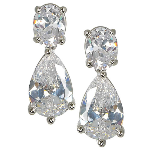 The Oprah Double CZ Drop Earring