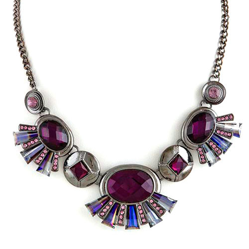Deco Purple Gem Necklace