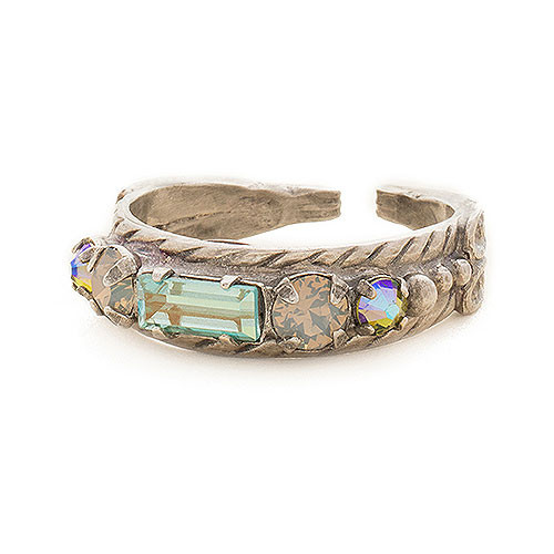 Sorrelli Mixed Stone Band Ring
