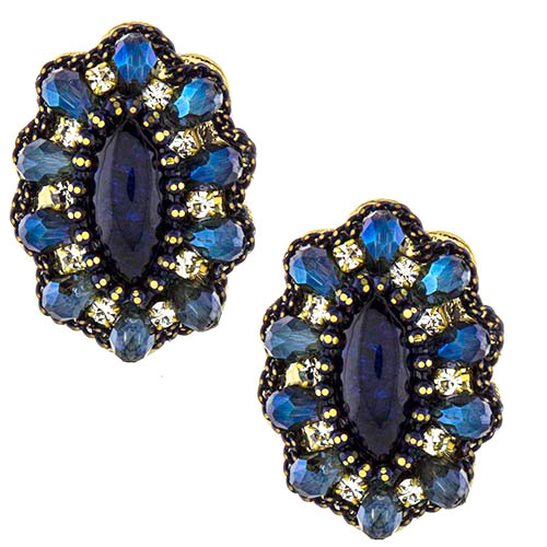 Arabella Button Earring