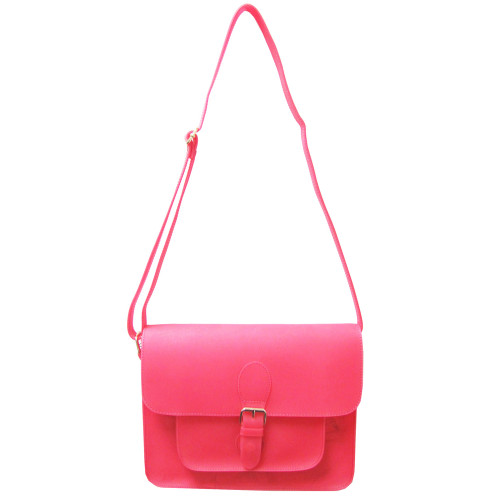 Sondra Robert's Pink Neon Jelly Cross Body Bag