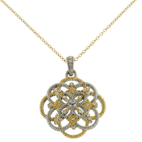 Two Tone Lacey Pendant