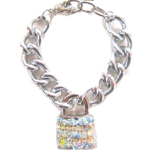 Boucle Fabric Lock and Links Bracelet