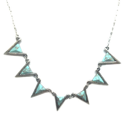 Turquoise  Marbled Triangles