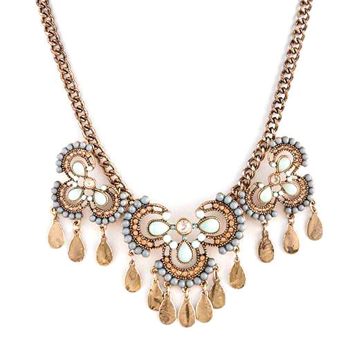 Vintage Sugary Pastel Jeweled Necklace
