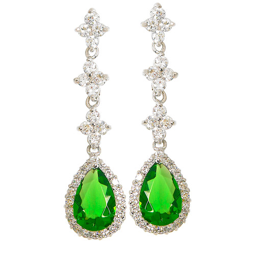 Emerald Dangling Teardrop