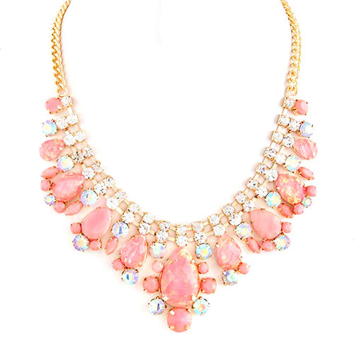 Pink Iridescent Bauble Necklace