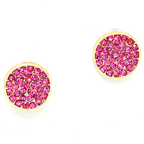 Fuchsia Pave Crystal Post