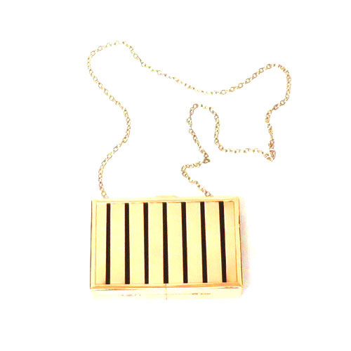 Rectangular Box Clutch Gold