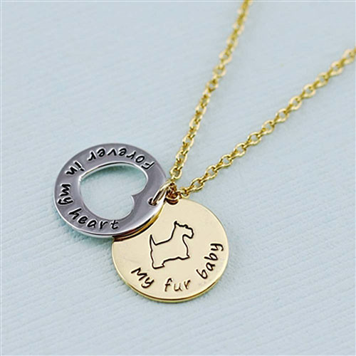 "Terrier ""Fur Baby""å Forever in Our Hearts Necklaces"