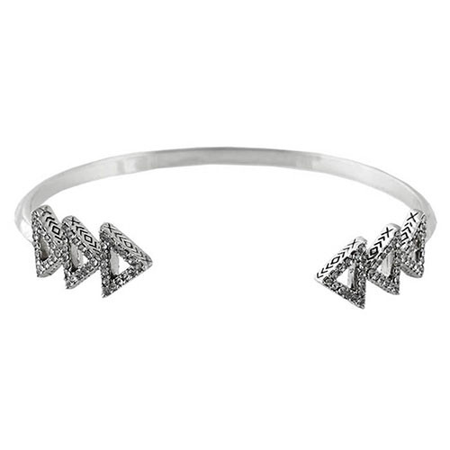 House of Harlow's Tessellation Silver Cuff