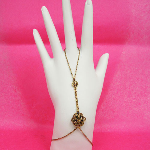 Azaara's Golden Crystal Camilla Harness Bracelet