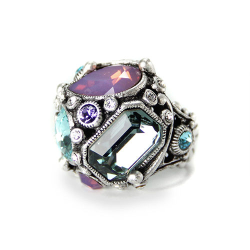 Crystal Pastel Deco Ring 1