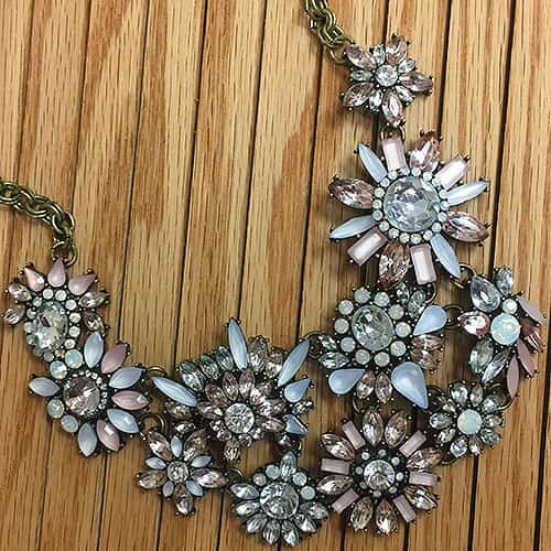 Frosted Pastel Floral Explosion Necklace 1