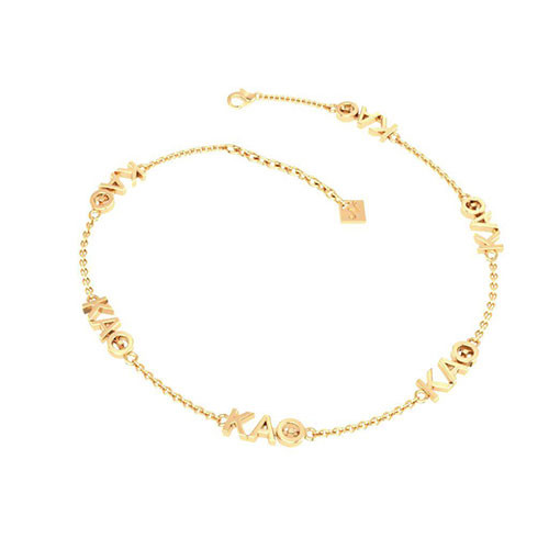 Kappa Alpha Theta Gold Plated Multi Mini Bracelet