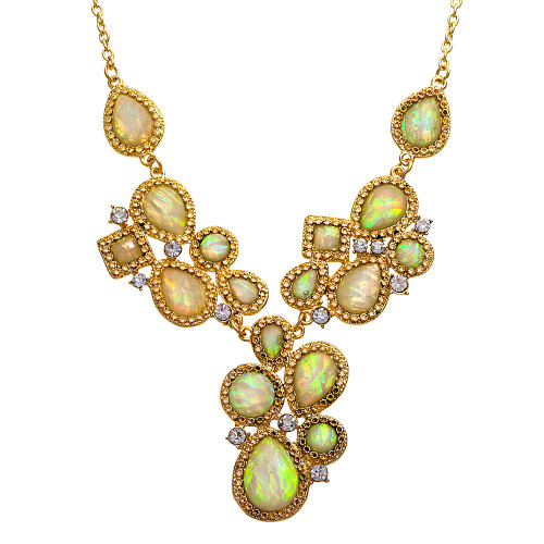Exotica White Opal Necklace