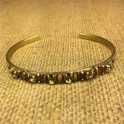 Sorrelli Epidote and Smoked Topaz Slim Cuff