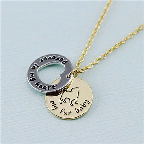 "Pug ""Fur Baby""å Forever in Our Hearts Necklaces"