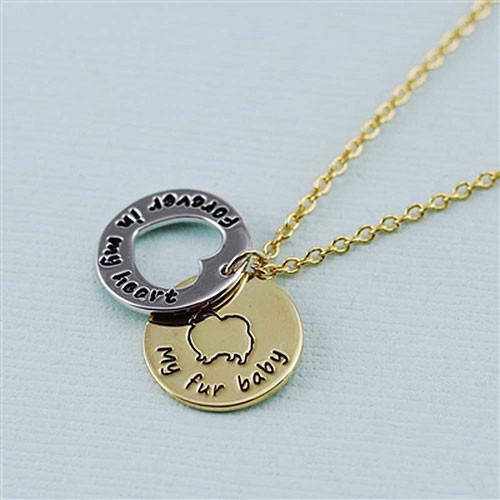 "Pomeranian ""Fur Baby""å Forever in Our Hearts Necklaces"
