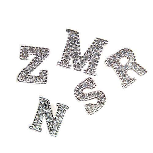Cubic Zirconia Little Letter Earrings