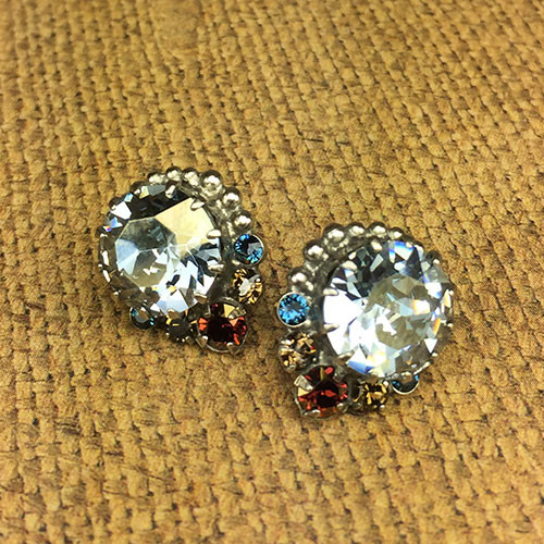 Sorrelli's Large Indian Sapphire Swarovski Post Earring
