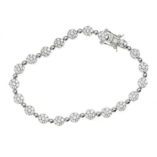 Pave Circles and Dots Bracelet