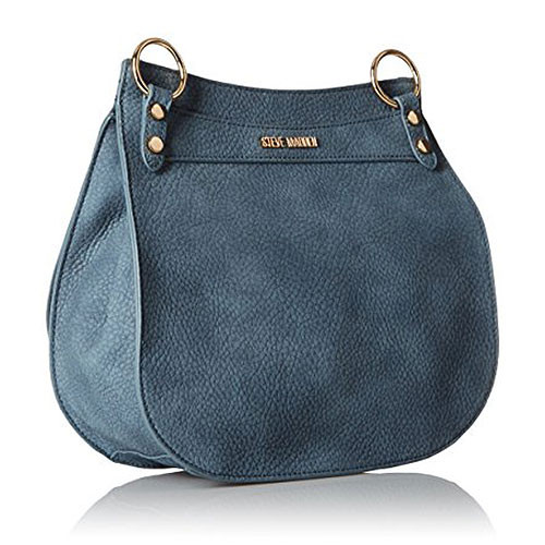 Steve Madden Blue Saddle Bag with Boho Guitar Strap