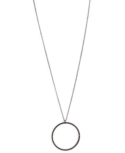 Long Circle Pendant  Necklace