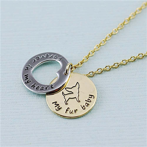 "Chihuahua ""Fur Baby""å Forever in Our Hearts Necklaces"