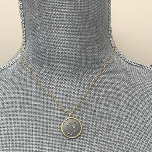 Celestial Zodiac and Birthstone Necklace