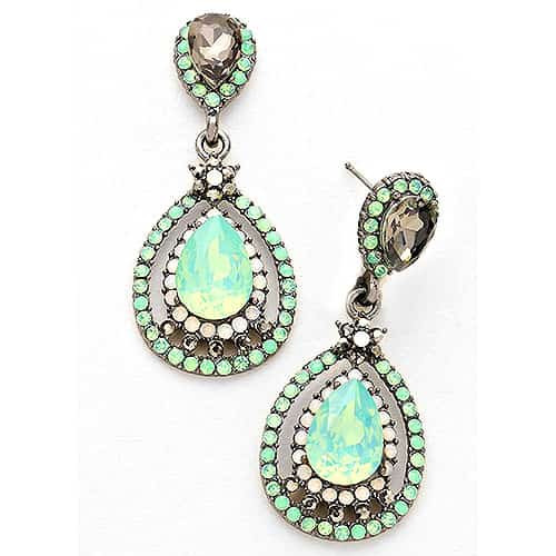 Lola's Double Mint Teardrop Dangles S