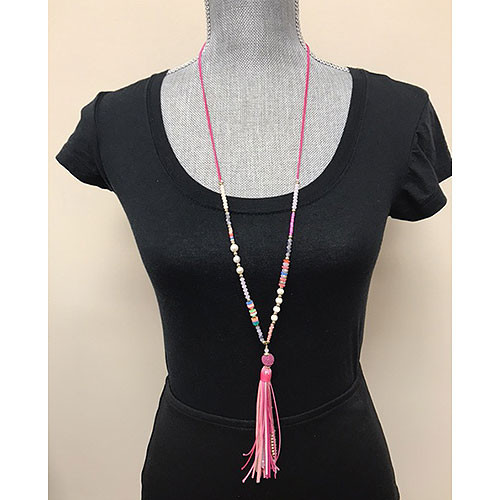 ZOKY'™s Colorful Beads & Tassel Necklace