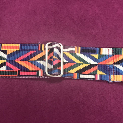 Multi-Colored Handbag Strap in Brown