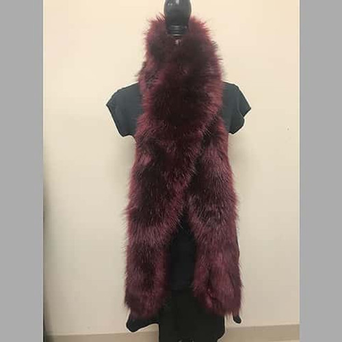 Luxurious Sondra Roberts Faux Fur Shawl Style Scarf